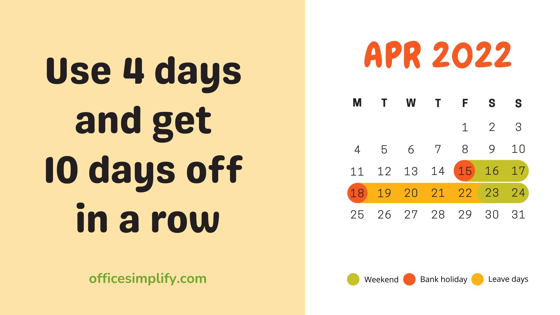 April 2022 employee leave plan