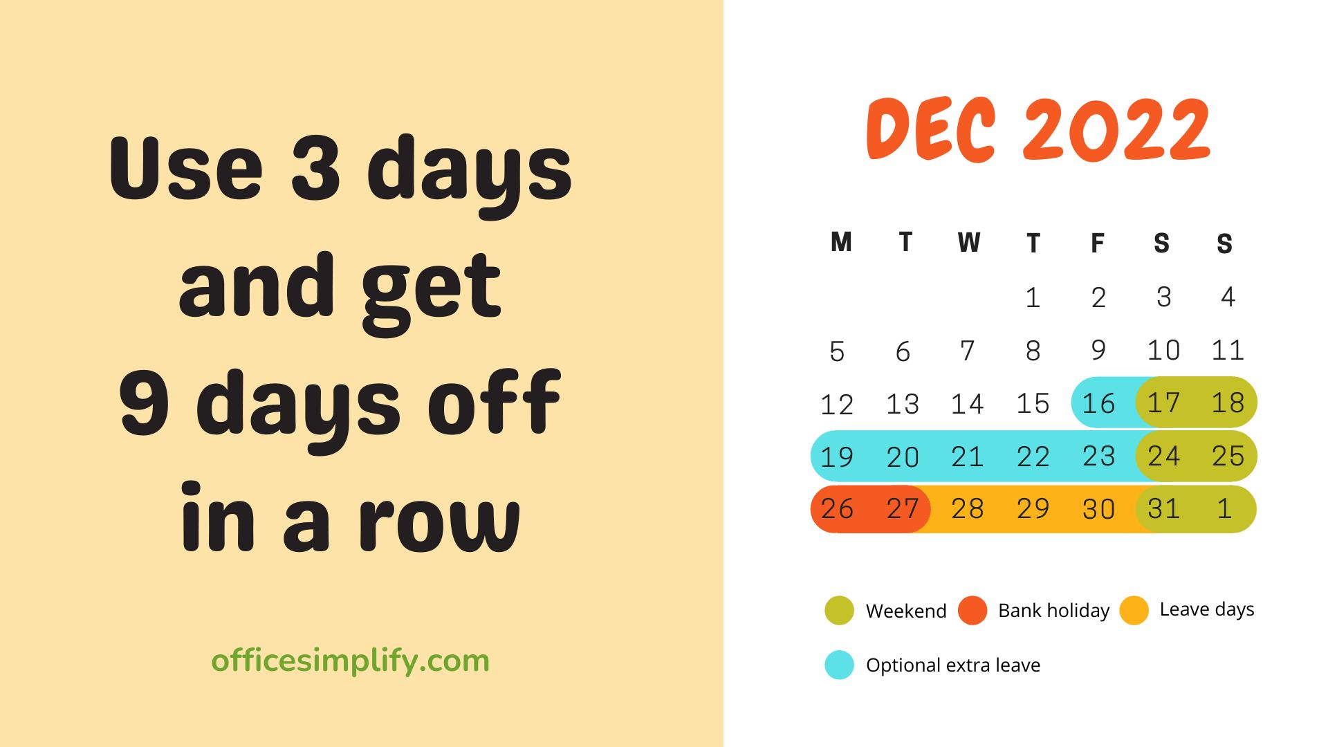 December 2022 employee leave plan