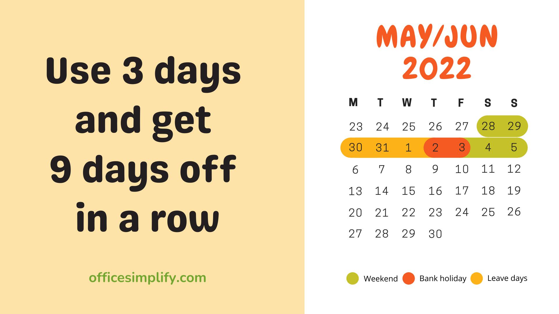 May/June 2022 employee leave plan